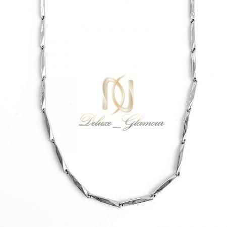 زنجیر مردانه استیل نقره ای nw-n715 از نمای سفید