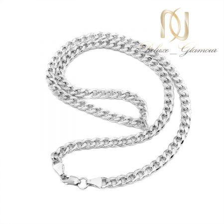 زنجیر نقره مردانه طرح طلا NW-N706 از نمای بالا