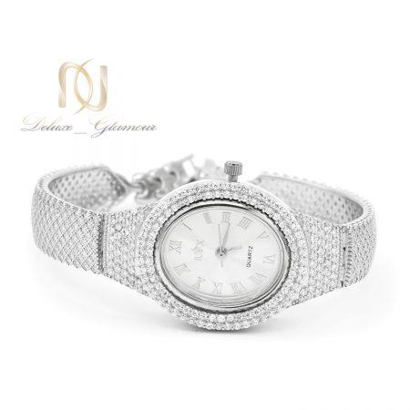 ساعت زنانه نقره اصل 925 جواهری sh-n197