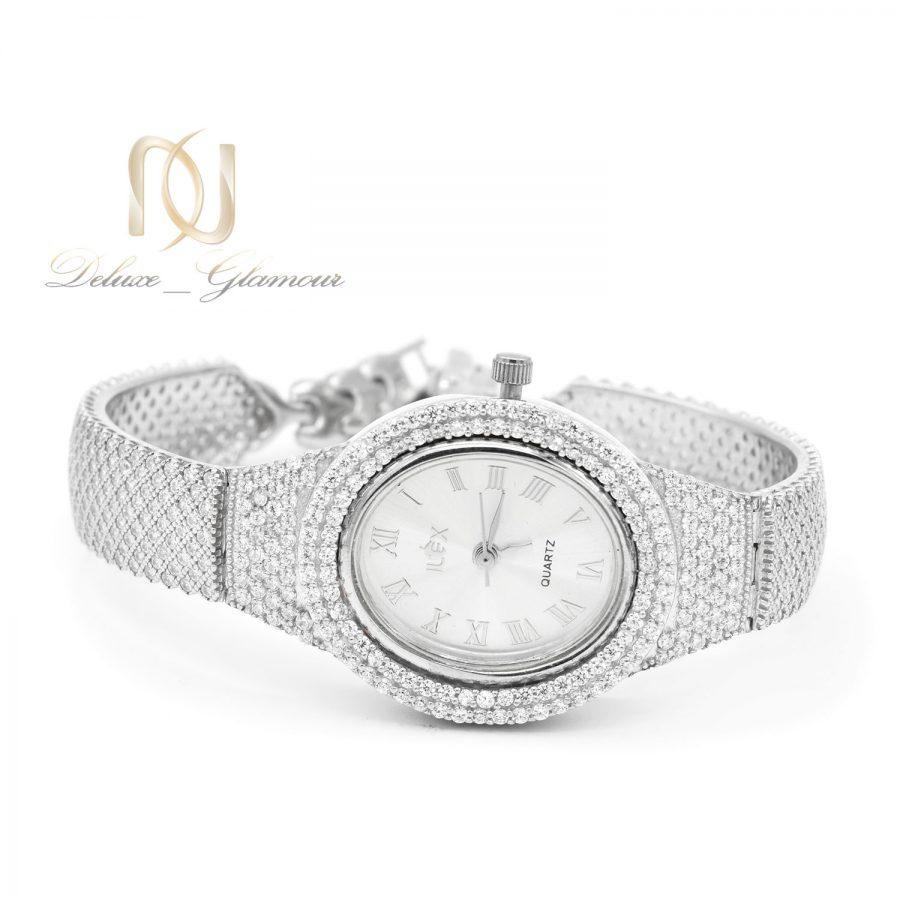ساعت زنانه نقره اصل 925 جواهری sh-n197 از نمای سفید