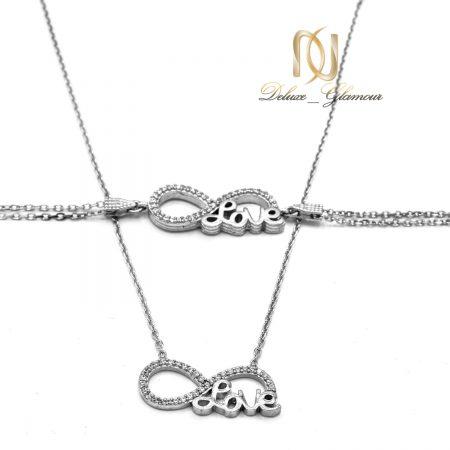 ست دستبند و گردنبند نقره بی نهایت ns-n566