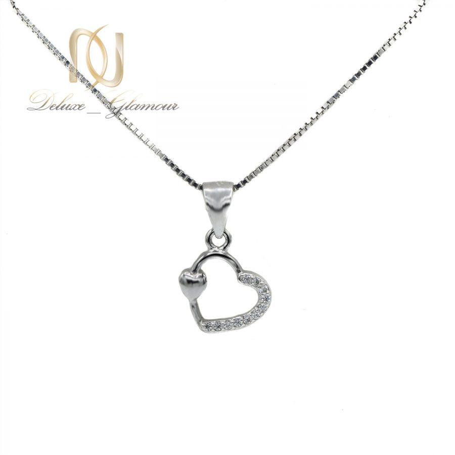 گردنبند دخترانه ظریف نقره 925 اصل nw-n723 از نمای سفید