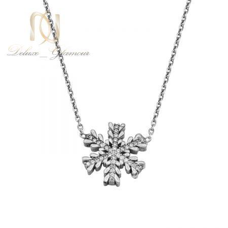 گردنبند دونه برف نقره دخترانه nw-n722 از نمای سفید