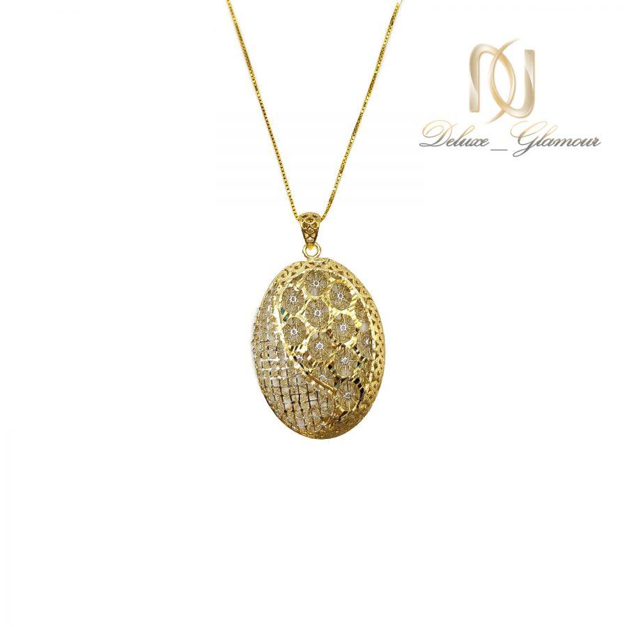 گردنبند زنانه نقره طرح طلا nw-n716 از نمای سفید