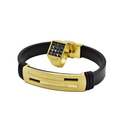 ست دستبند و انگشتر مردانه مونت بلانک ns-n557 اصلی