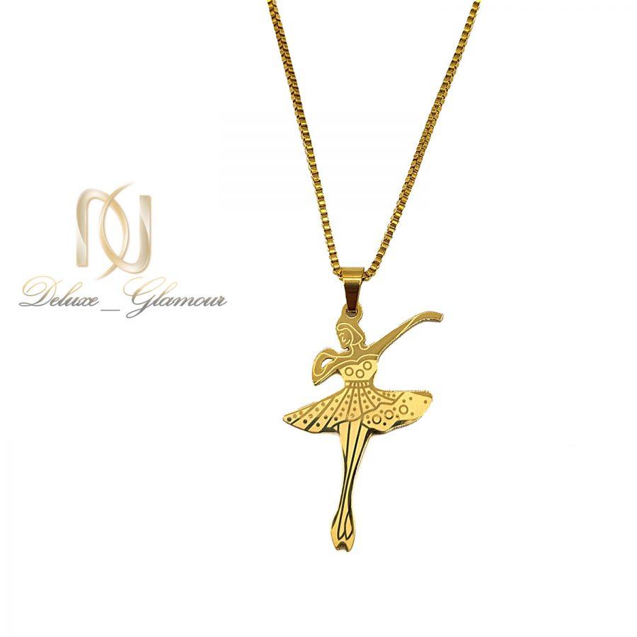 گردنبند بالرین طلایی استیل دخترانه nw-n720 عکس اصلی