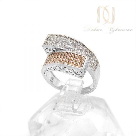انگشتر نقره زنانه پرنگین طرح طلا rg-n530