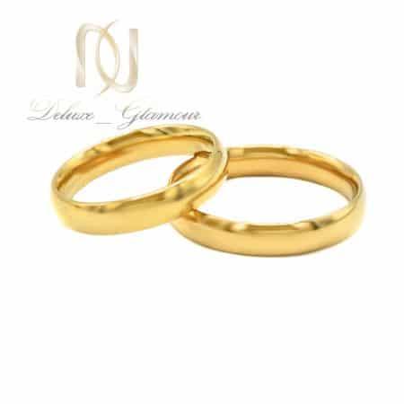 حلقه ست استیل طلایی rg-n518 از نمای سفید