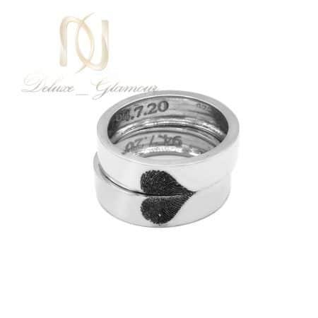 حلقه ست نامزدی نقره دست ساز rg-n520 از نمای روبرو