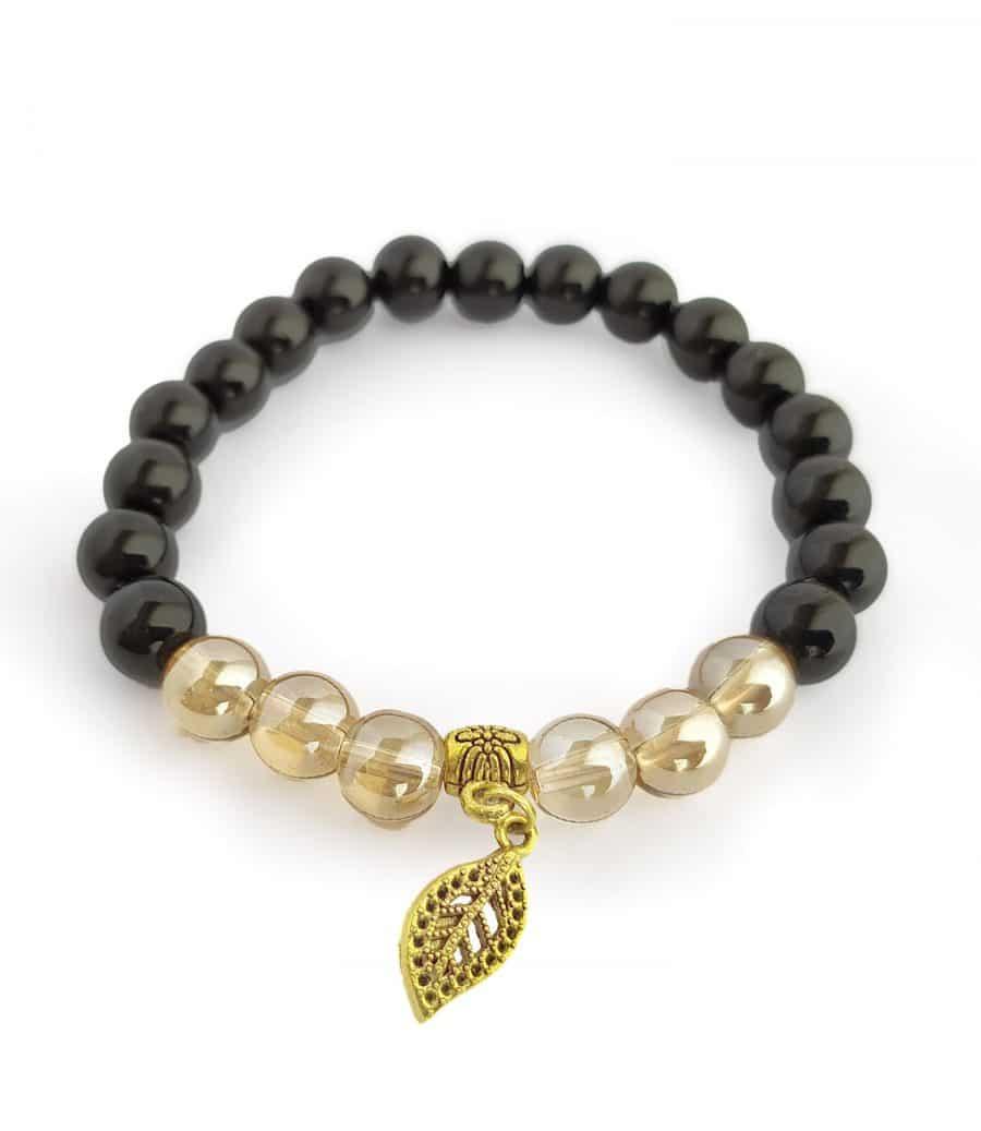 دستبند دخترانه سنگی دستساز za-n431