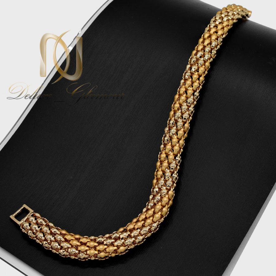 دستبند زنانه طرح طلای استیل ds-n648 از نمای مشکی