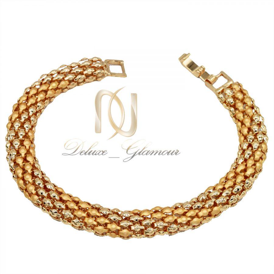 دستبند زنانه طرح طلای استیل ds-n648 از نمای سفید
