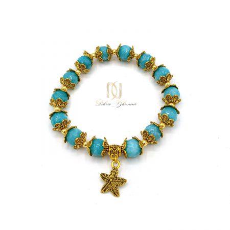 دستبند سنگ جید دخترانه آویزدار za-n440