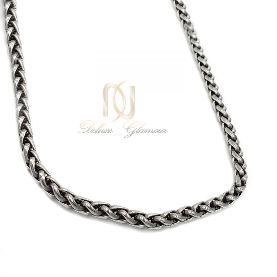 زنجیر مردانه استیل سیاه قلم ماری nw-n740 از نمای سفید