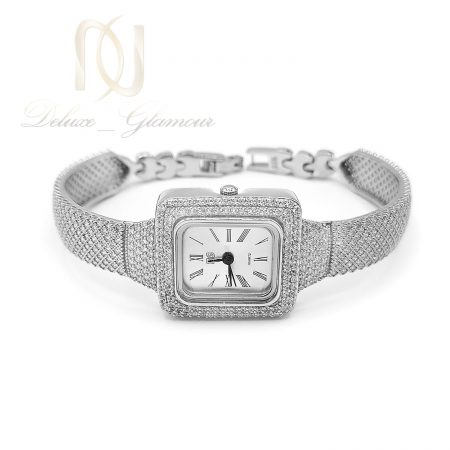 ساعت نقره جواهری صفحه مربعی sh-n201
