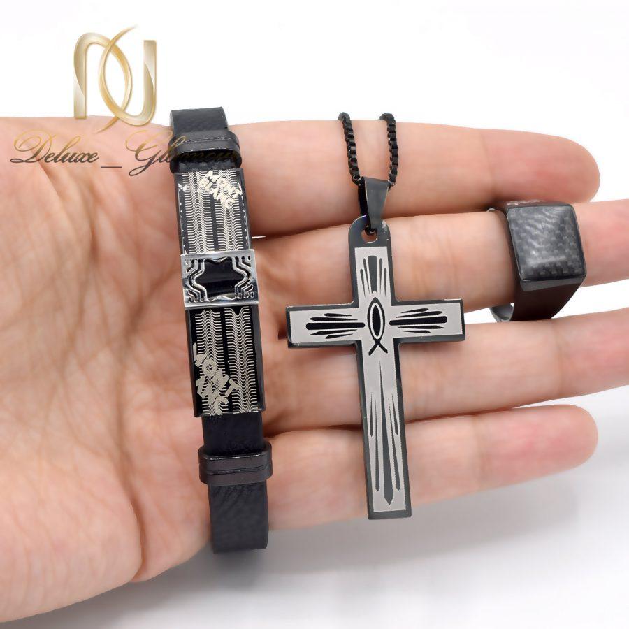 ست دستبند، گردنبند و انگشتر مردانه ns-n655