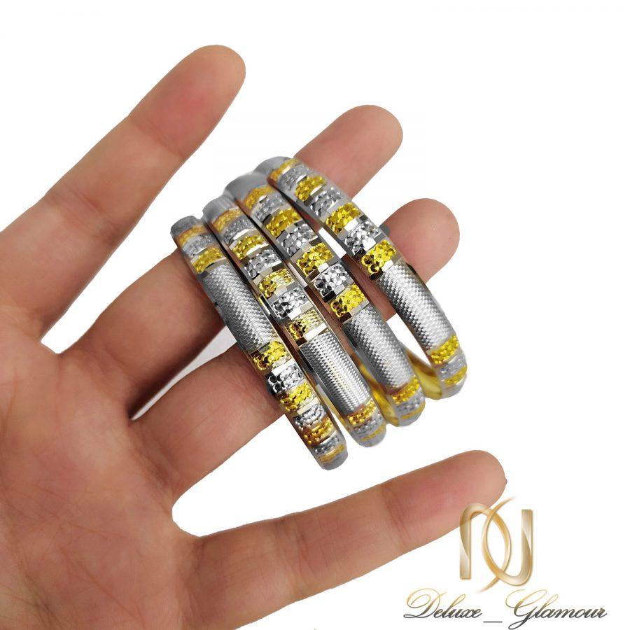 النگو زنانه نقره طرح طلا جدید al-n129 از نمای روی دست