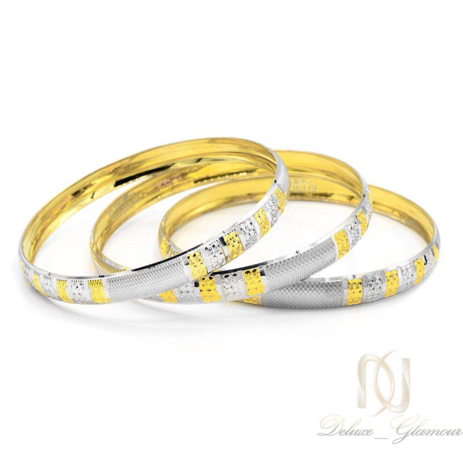 النگو زنانه نقره طرح طلا جدید al-n129 از نمای سفید
