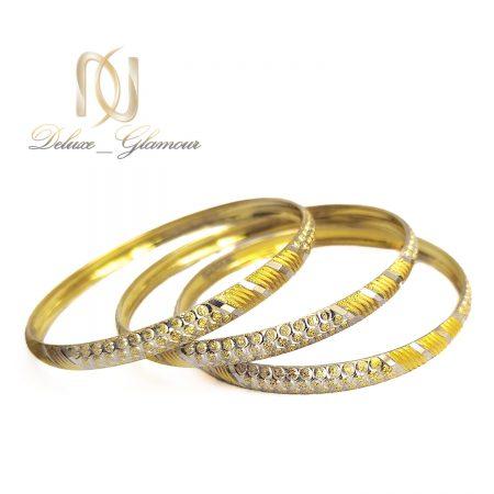 النگو زنانه نقره طرح طلا دو رنگ al-n136