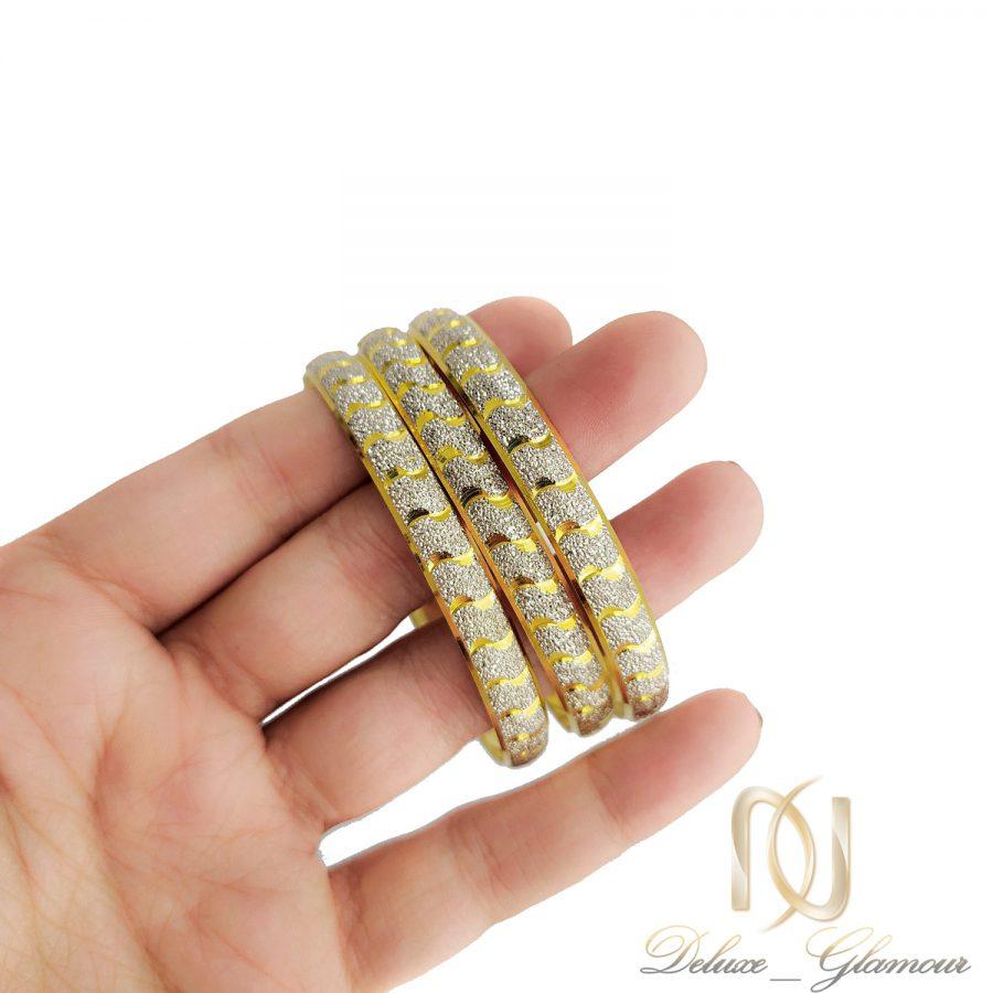 النگو نقره زنانه طرح طلا al-n128 از نمای روی دست