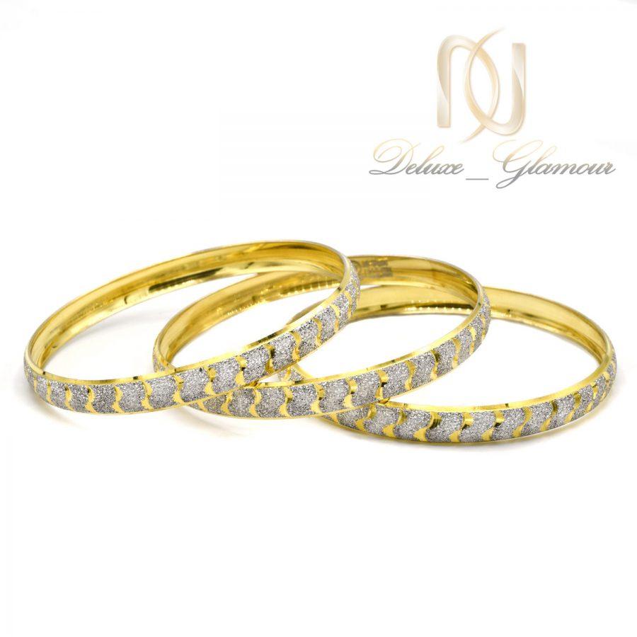 النگو نقره زنانه طرح طلا al-n128 از نمای سفید
