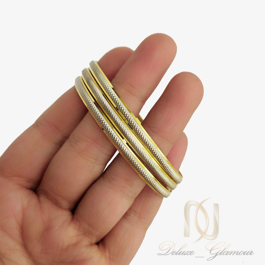 النگو نقره ظریف طرح طلا al-n130 از نمای روی دست