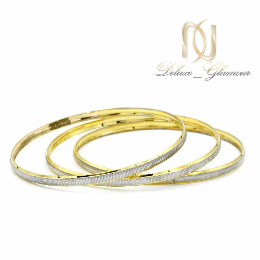 النگو نقره ظریف طرح طلا al-n130 از نمای سفید