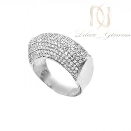 انگشتر زنانه نقره نگین اتمی عیار 925 تایلندی RG-N184