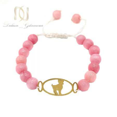 دستبند سنگ ماه تولد فروردین ds-n662 از نمای سفید