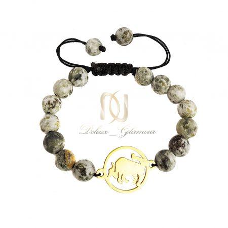 دستبند ماه تولد اردیبهشت سنگی ds-n667 از نمای سفید