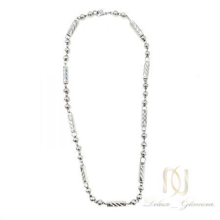 زنجیر مردانه استیل ساچمه ای nw-n749 از نمای سفید