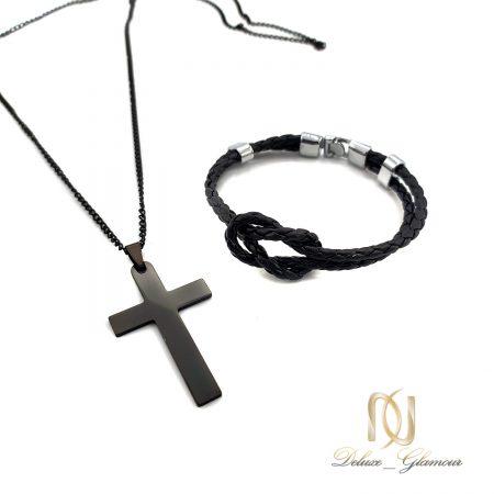 ست دستبند و گردنبند مردانه اسپرت NS-N674