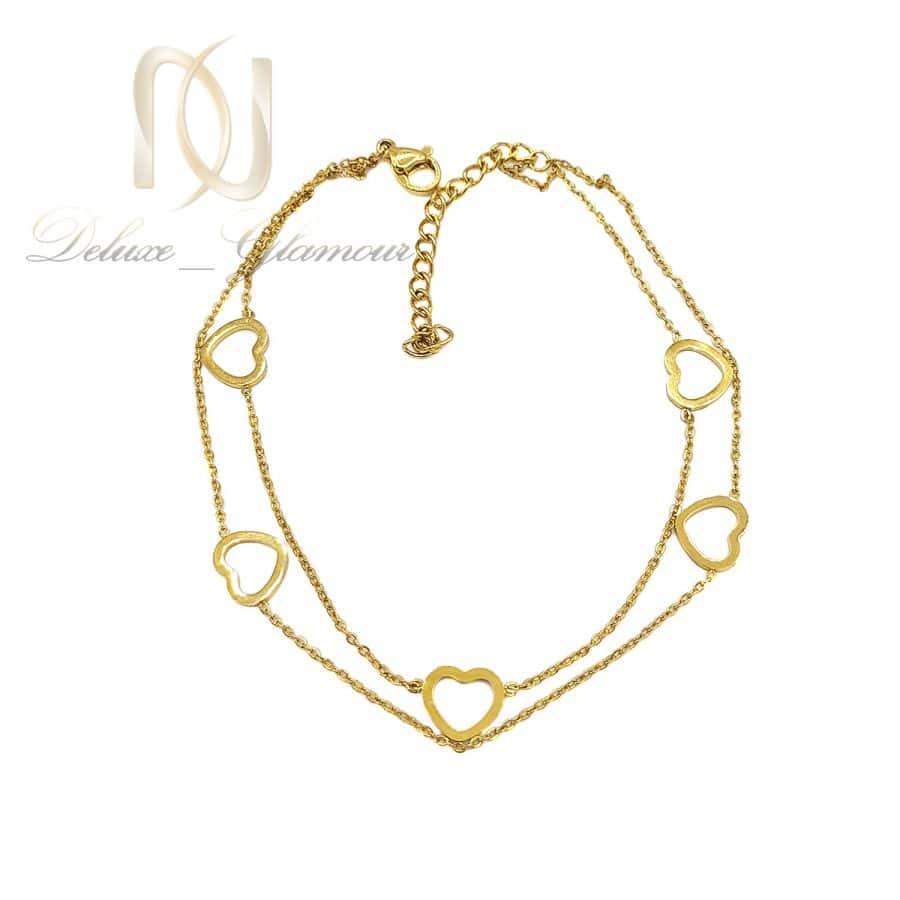 پابند دوردیفه استیل طلایی pa-n159 از نمای سفید