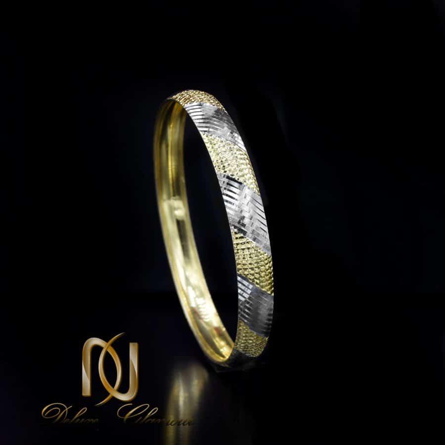 النگو نقره زنانه تراش طرح طلا al-n132 از نمای نزدیک