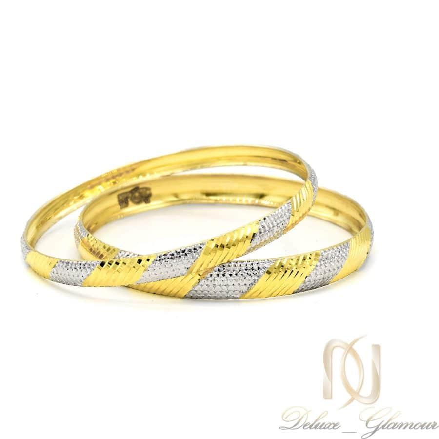 النگو نقره زنانه تراش طرح طلا al-n132 از نمای سفید