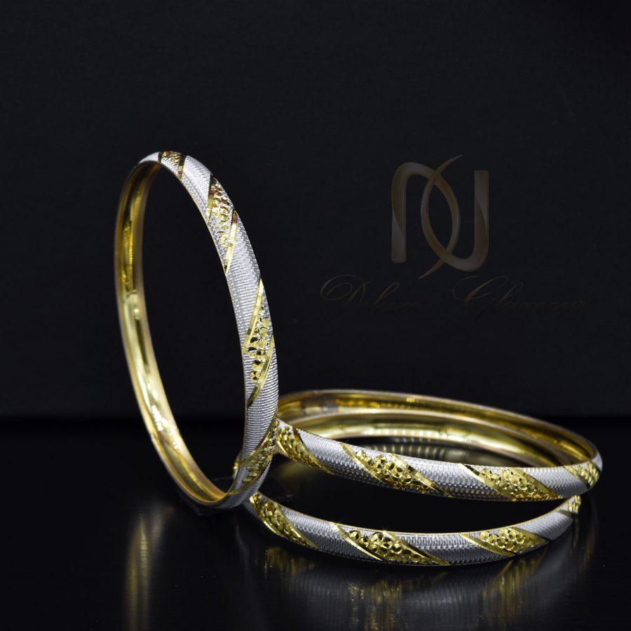 النگو نقره تراش طرح طلا al-n139 از نمای مشکی