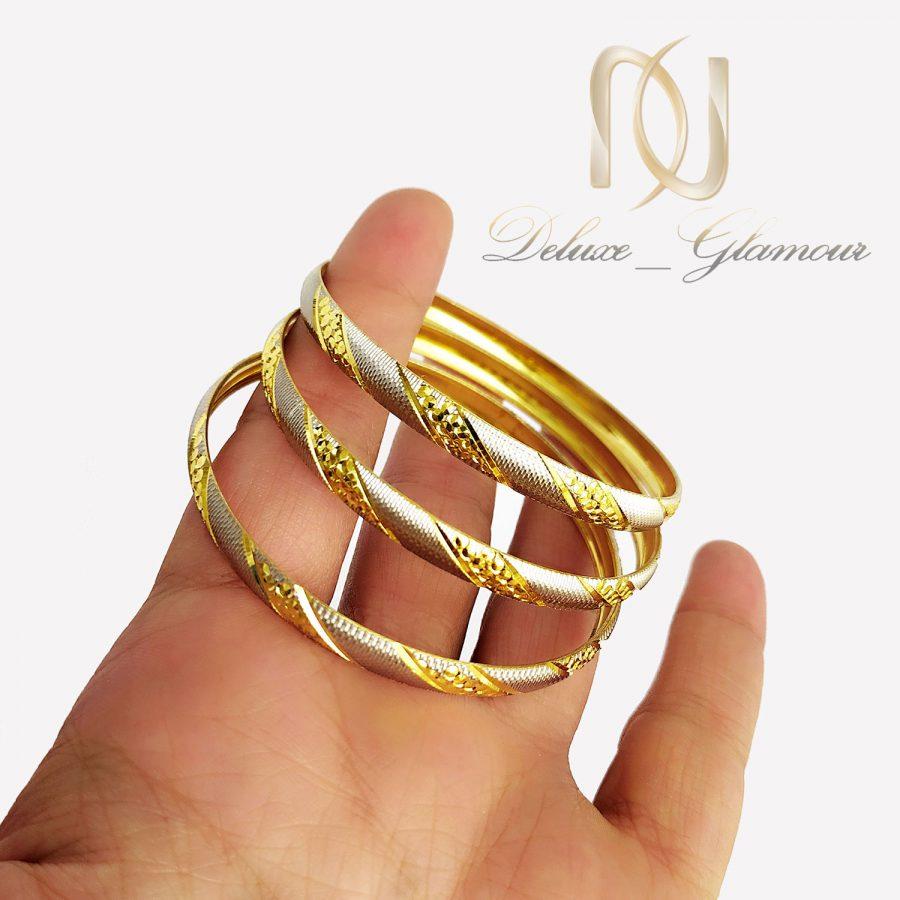 النگو نقره تراش طرح طلا al-n139 از نمای روی دست