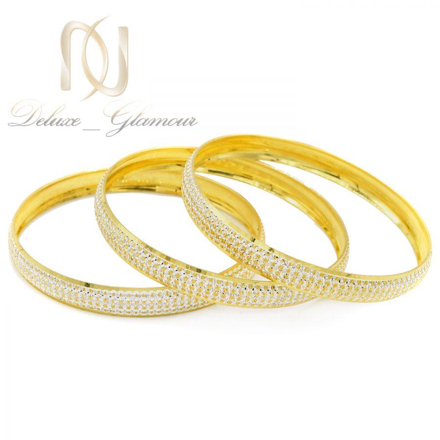 النگو نقره طرح طلای زنانه al-n141 از نمای سفید
