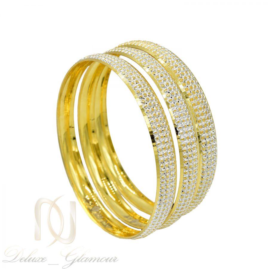 النگو نقره طرح طلای زنانه al-n141 از نمای روبرو