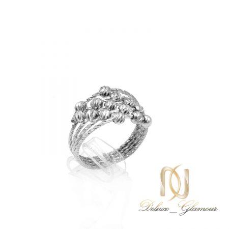 انگشتر زنانه نقره ساچمه ای طرح طلا rg-n540