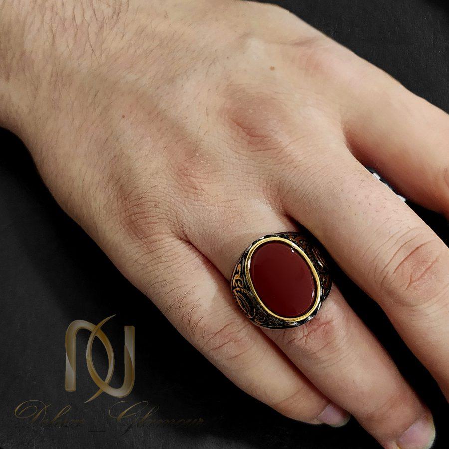 انگشتر مردانه طرح عقیق استیل rg-n544