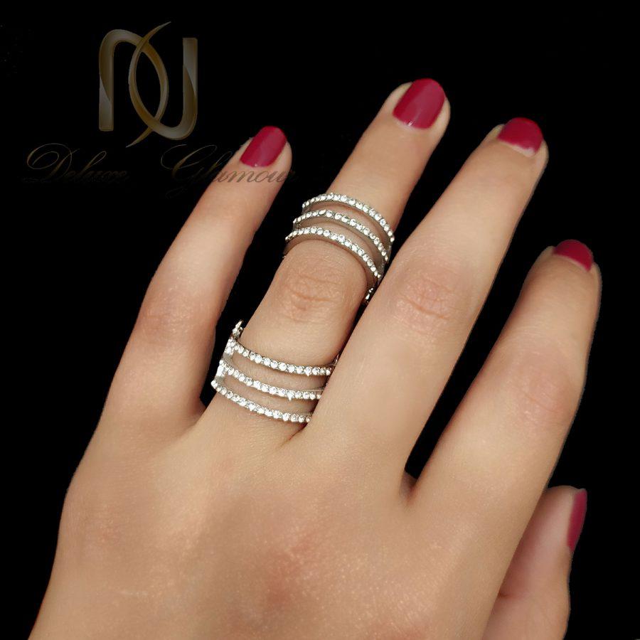 بند انگشتی و انگشتر زنجیری استیل rg-n547 از نمای مشکی
