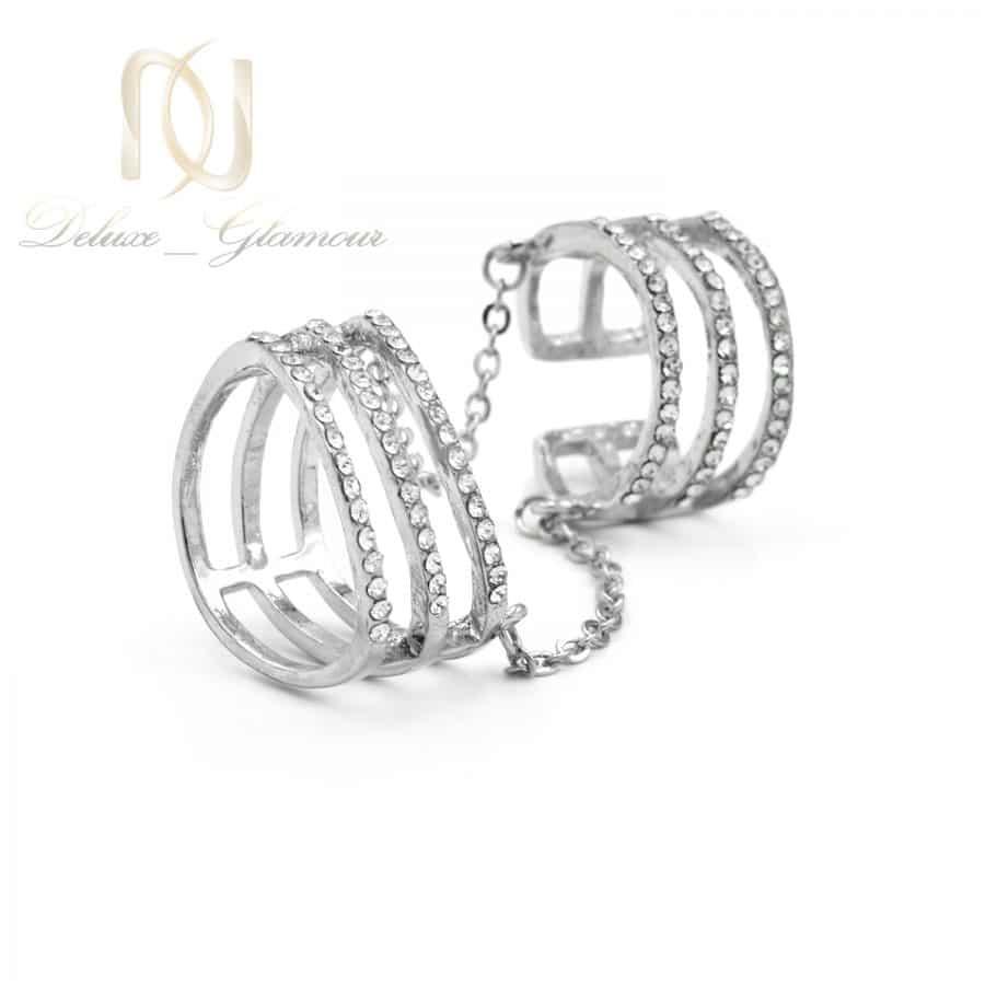 بند انگشتی و انگشتر زنجیری استیل rg-n547 از نمای سفید