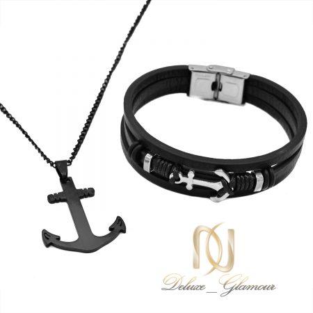 ست دستبند و گردنبند مردانه اسپرت ns-n705
