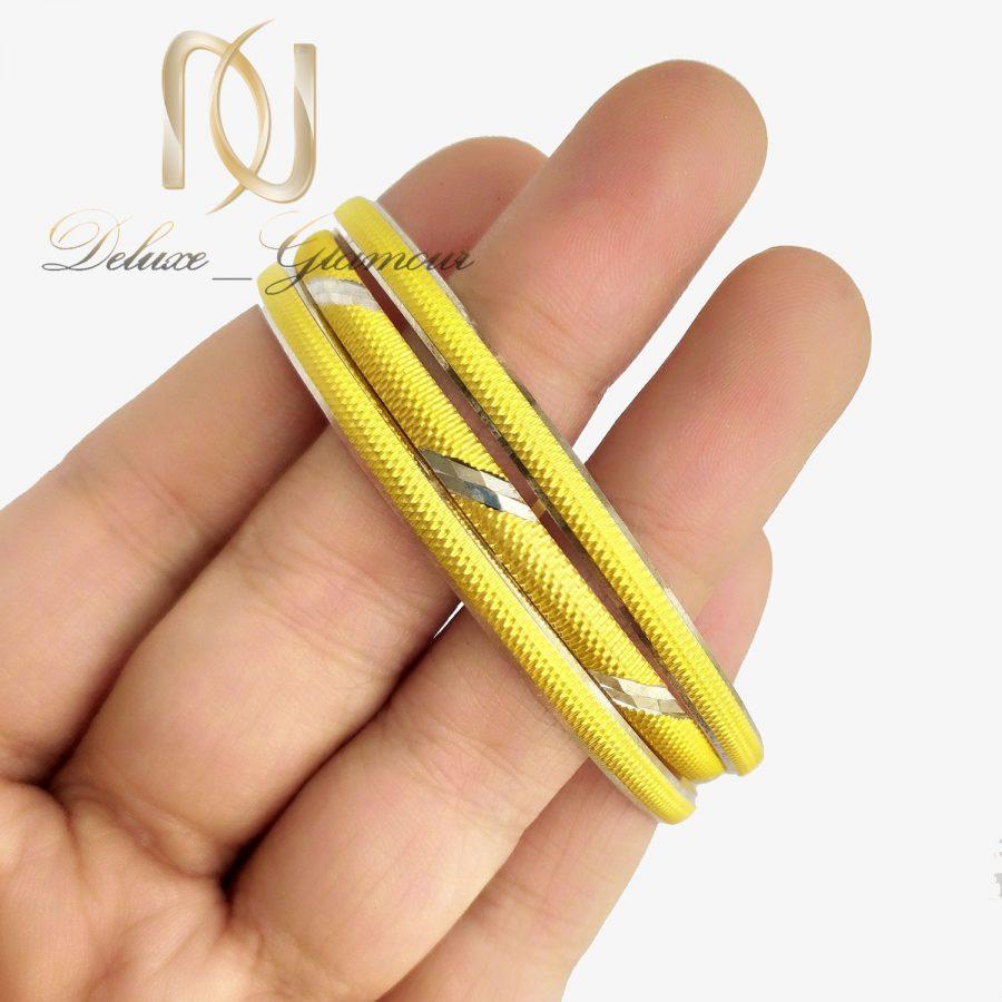 پک النگو نقره ظریف طرح طلا al-n140 از نمای روی دست