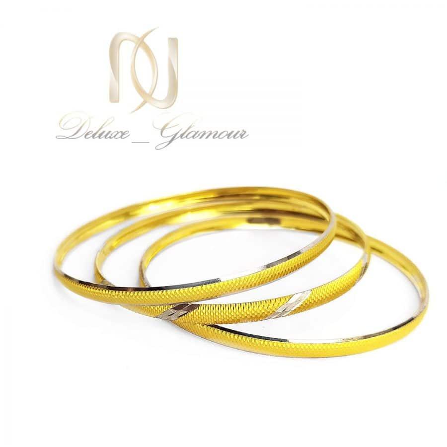 پک النگو نقره ظریف طرح طلا al-n140 از نمای سفید