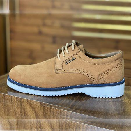 کفش مردانه چرم طرح کلارک عسلی sh-n156