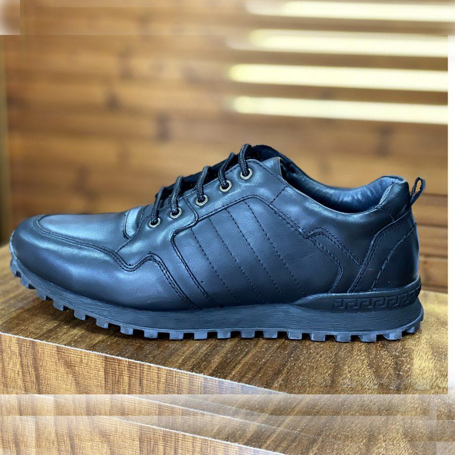 کفش مردانه چرم مشکی جدید sh-n159