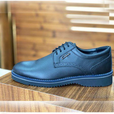 کفش مردانه چرم مشکی کلارک sh-n158