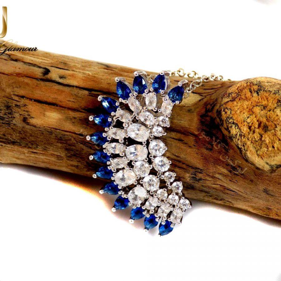 گردنبند دخترانه جواهری سواروسکی Nw-n117 از نمای بالا
